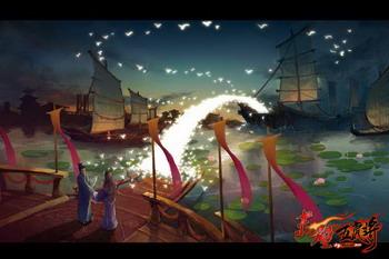 jpg;   甘露寺鹊桥概念设计图; 《赤壁·五虎将》之甘露寺概念设计图
